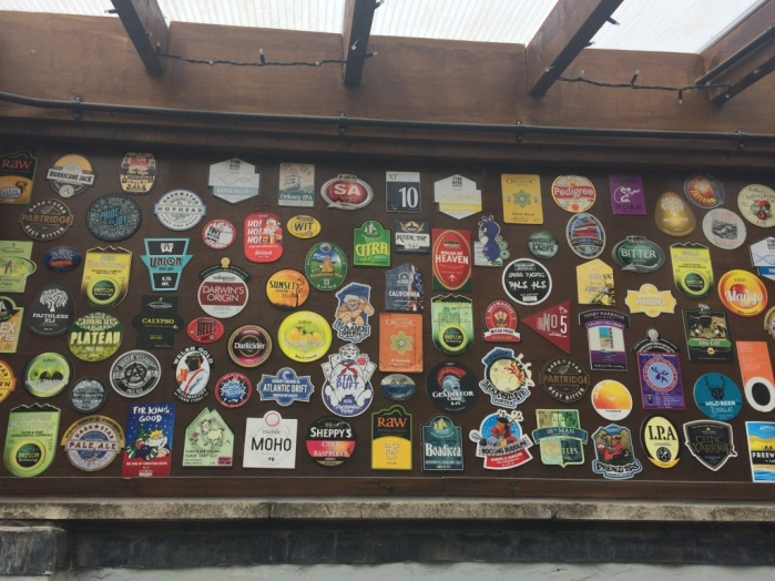 Loved this craft beer wall outside at The Pen and Wig