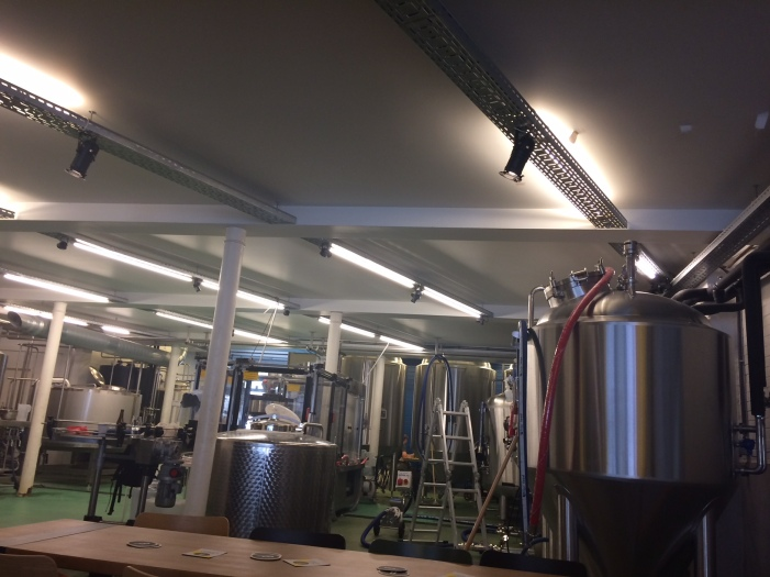 Inside the brewery...